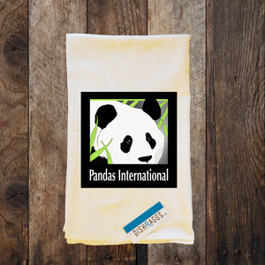 20% Net Proceeds Benefits PANDAS INTERNATIONAL Shabby Chic Flour Sack Dish Towel