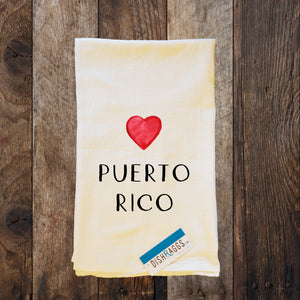 "PUERTO RICO 30"" x 30"" Light Weight (Shabby Chic) Flour Sack Dish Towel"