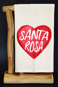 "20% Net Proceeds BENEFITS CA WILDFIRES • SANTA ROSA 30"" x 30"" Flour Sack Dish Towel & Reusable Bag!"