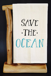 "20% Net Proceeds Benefits SEA SHEPHERD. SAVE THE OCEAN 28"" x 29"" Premium Flour Sack Dish Towel & Reusable Bag!"