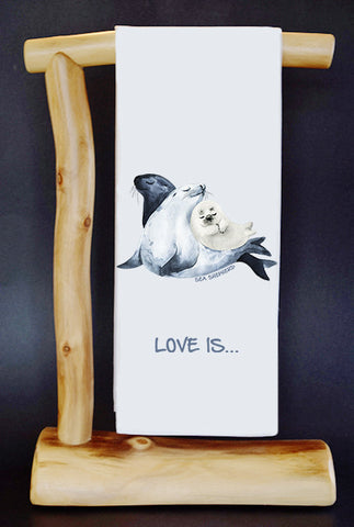 $5 Benefits SEA SHEPHERD CONSERVATION SOCIETY. LOVE IS... CharityRagg Dish Towel & Gift Bag.