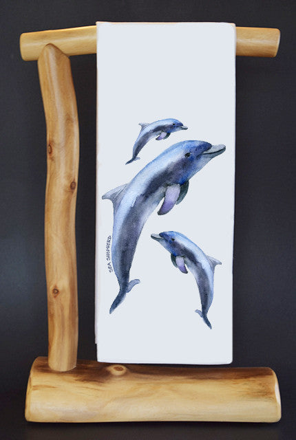 20% Net Proceeds Benefits SEA SHEPHERD CONSERVATION SOCIETY. DOLPHINS Dish Towel & Reusable Bag!