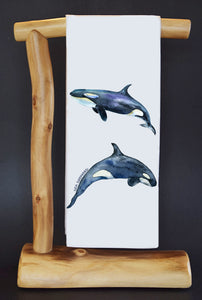 20% Net Proceeds Benefits SEA SHEPHERD CONSERVATION SOCIETY. KILLER WHALES Dish Towel & Reusable Bag!
