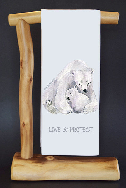 20% Net Proceeds Benefits SEA SHEPHERD CONSERVATION SOCIETY. LOVE & PROTECT Dish Towel & Reusable Bag!