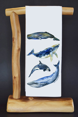 $5 Benefits SEA SHEPHERD CONSERVATION SOCIETY. WHALES CharityRagg Dish Towel & Gift Bag.