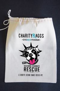 20% Net Proceeds Benefits SECOND CHANCE RESCUE NYC! RESCUED Dish Towel & Reusable Bag!