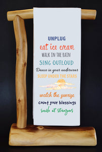 20% Net Proceeds Benefits AL'S ANGELS! UNPLUG Dish Towel & Pouch