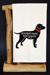"25% Net Proceeds Benefits AMERICA'S VETDOGS • 28"" x 29"" Premium Flour Sack Dish Towel"
