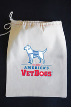"25% Net Proceeds Benefits AMERICA'S VETDOGS •  17"" x 30"" Modern Plain Weave Dish Towel & Pouch"