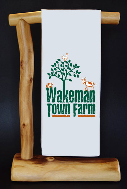 20% Net Proceeds Benefits WAKEMAN TOWN FARM Dish Towel & Reusable Bag!