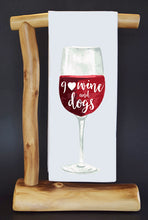 20% Net Proceeds Benefits COASTAL GERMAN SHEPHERD OC. Wine & Dogs Dish Towel & Reusable Bag!