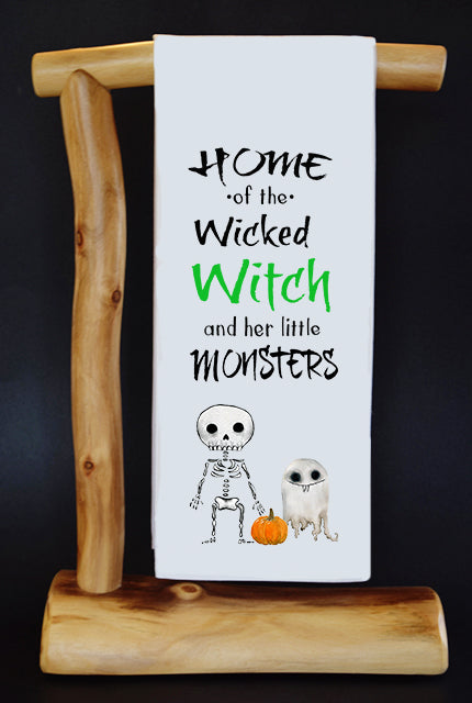 WICKED WITCH & HER TWO MONSTERS Dish Towel & Reusable Bag!