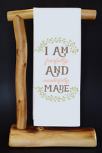 "Faithfully & Wonderfully Made 17"" x 30"" Dish Towel & Gift Bag Set"
