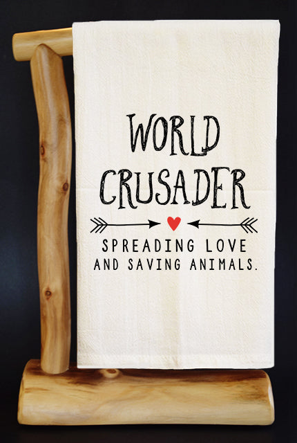 20% Net Proceeds Benefits COASTAL GERMAN SHEPHERD. WORLD CRUSADER Dish Towel  & Reusable Bag!