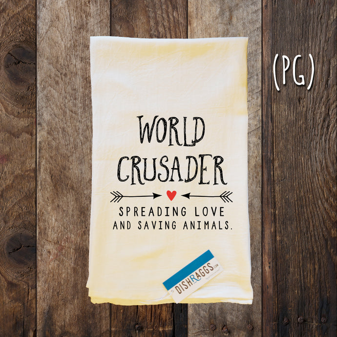 WORLD CRUSADER SPREAD LOVE & SAVE ANIMALS (PG)