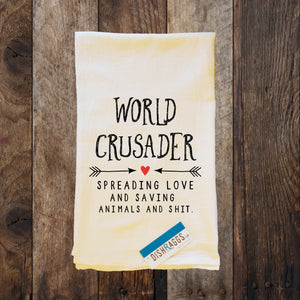 WORLD CRUSADER SPREAD LOVE & SAVE ANIMALS + SHIT