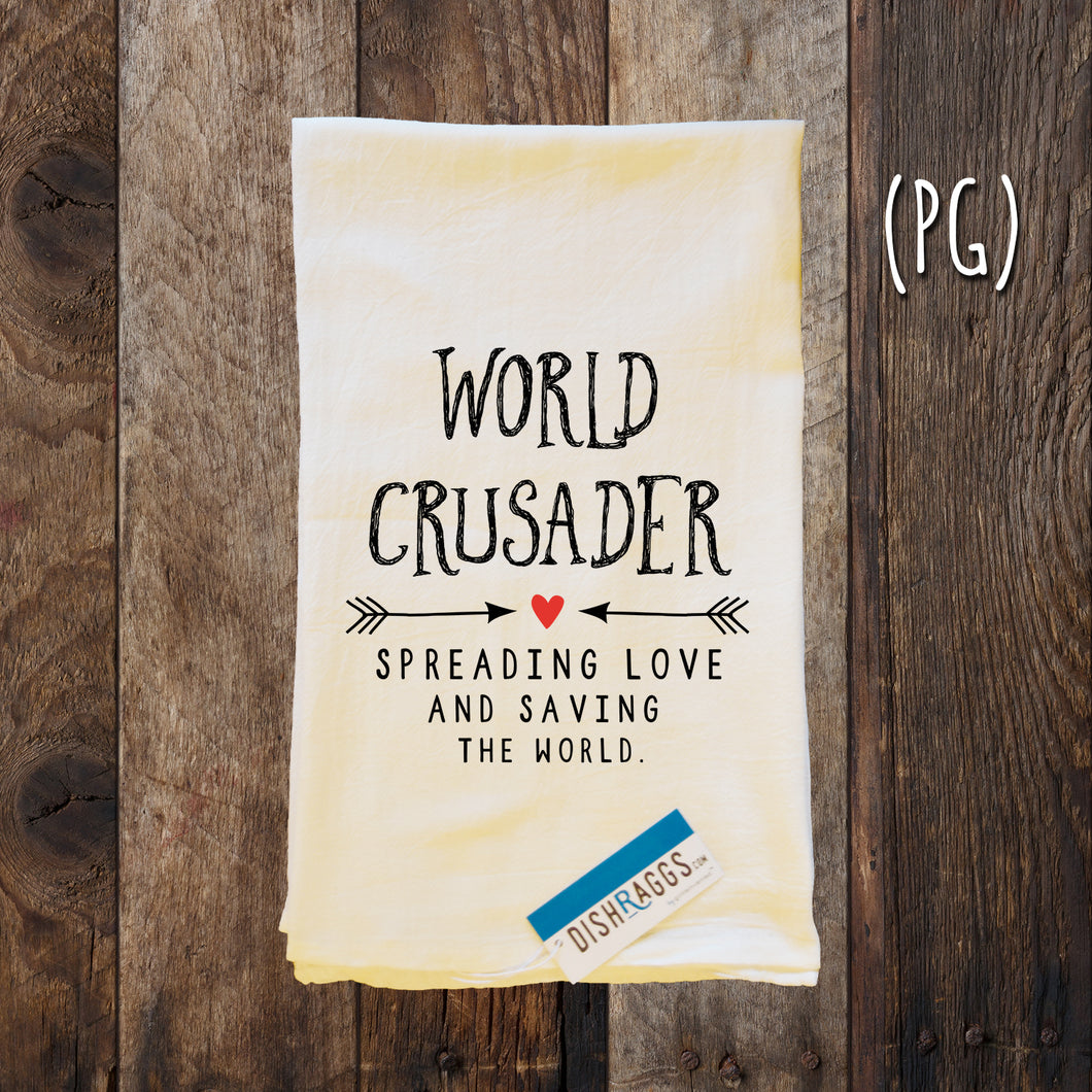 WORLD CRUSADER SPREAD LOVE & SAVE THE WORLD (PG)