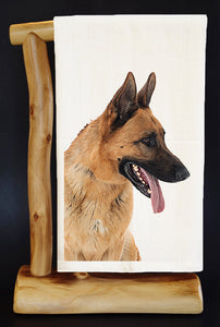 "20% Net Proceeds BENEFITS COASTAL GERMAN SHEPHERD.ZEUS 28"" x 29"" Premium Flour Sack Dish Towel& Reusable Bag!"