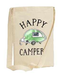 HAPPY CAMPER SLING TOTE BAG