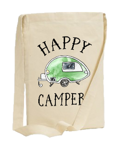 HAPPY CAMPER SLING TOTE & DISHRAGG GIFT SET