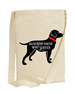 40% NET PROCEEDS BENEFITS AMERICA'S VETDOGS • SLING TOTE BAG