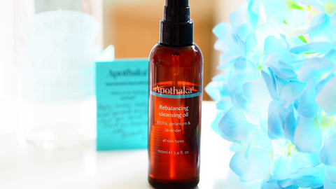 Apothaka Rebalancing cleansing oil review by Rougepout Beauty