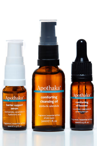 Apothaka discovery set EO free - cleansing oil, barrier support, oil booster