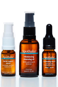 Apothaka discovery set (fragranced) - cleansing oil, barrier support, face oil