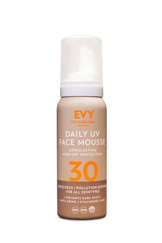 EVY daily UV face mousse SPF30 sunscreen