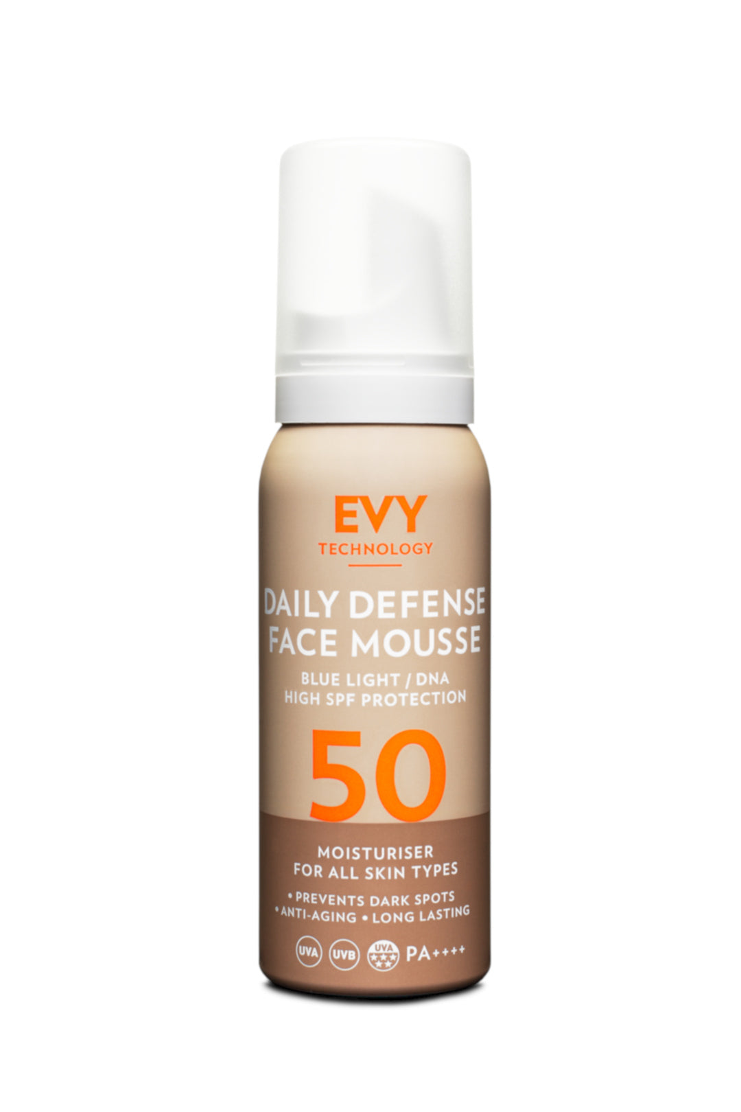 EVY daily defense face mousse SPF50 (75ml)