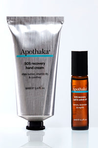 Apothaka SOS recovery duo handcream and nail & cuticle oil