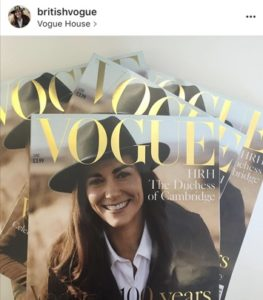 June editions of British Vogue featuring HRH The Duchess of Cambridge via Instagram @britishvogue, photography by @josholins