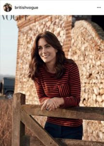 HRH The Duchess of Cambridge during the Vogue Cover shoot via @britishvogue photography by @josholins