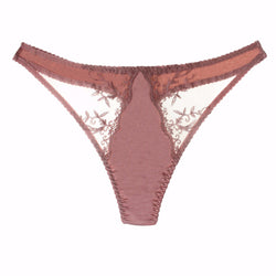 Fleur of England Sofia Embroidered Thong
