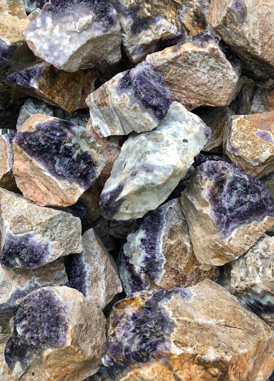 Amethyst in Matrix - 10 pounds