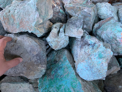 Chrysocolla with chalcocite (copper ore) - 10 pounds