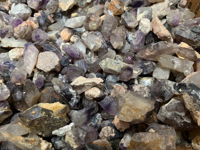 Brandberg Amethyst and Smoky Quartz - 1 pound