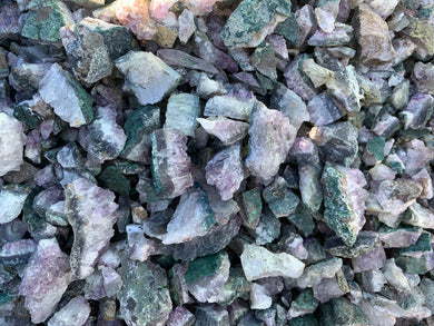 Amethyst and Quartz Chunks and pieces from Brazil - 10 pounds