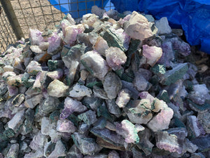Amethyst and Quartz Chunks and pieces from Brazil - 100 pounds