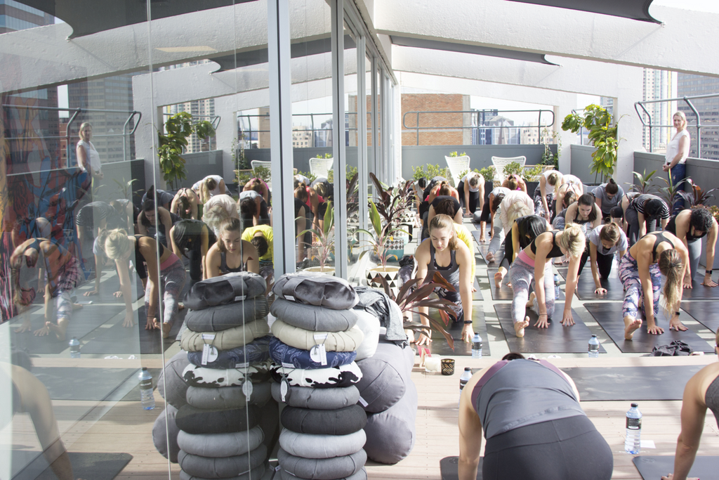 collective hub roof top yoga health wellness