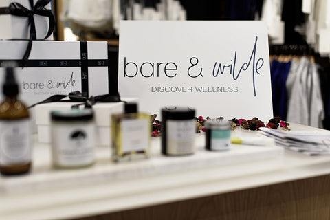 Bare & Wilde pop-up shop at Lululemon Claremont Quarter