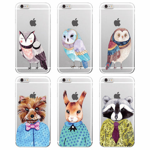 Coques Silicone Drole d'animaux Iphone ( 6 modèles)