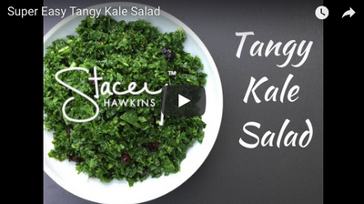 Tangy Kale Salad- a Lean and Green Recipe