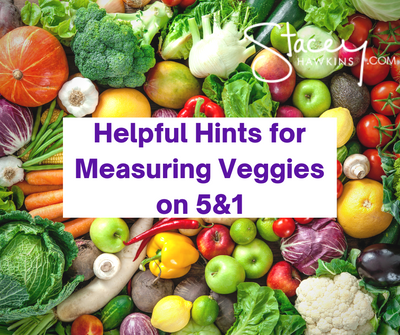 Measuring Veggies on Optavia