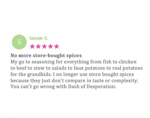 Dash of Desperation Seasoning