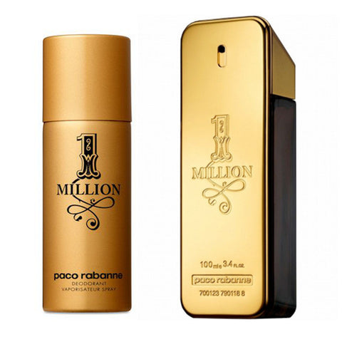 1 Million Paco Rabanne Gavesæt - 100ml EDT + 150ml Deo