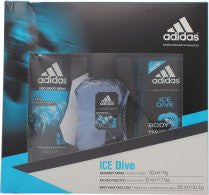 Adidas Ice Dive Gavesæt 50ml EDT + 250ml Shower Gel + 150ml Deodorant Body Spray