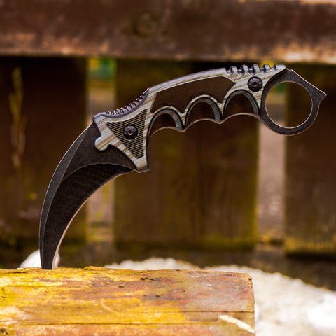 cs go Knives - Karambit Black Laminate in Real Life, IRL