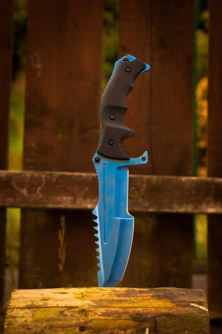 CSGO Huntsman Knife - Blue Steel - cs:go knives in real life, irl, uk
