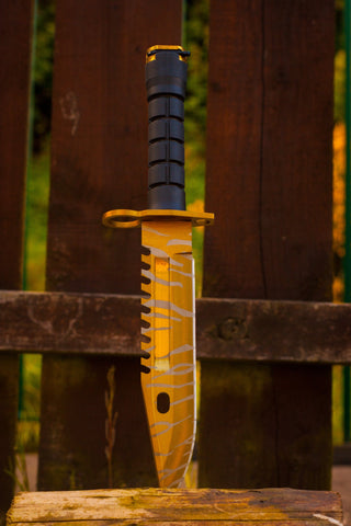 CSGO M9 Bayonet Knife - Tiger Tooth - cs:go knives in real life, irl, uk